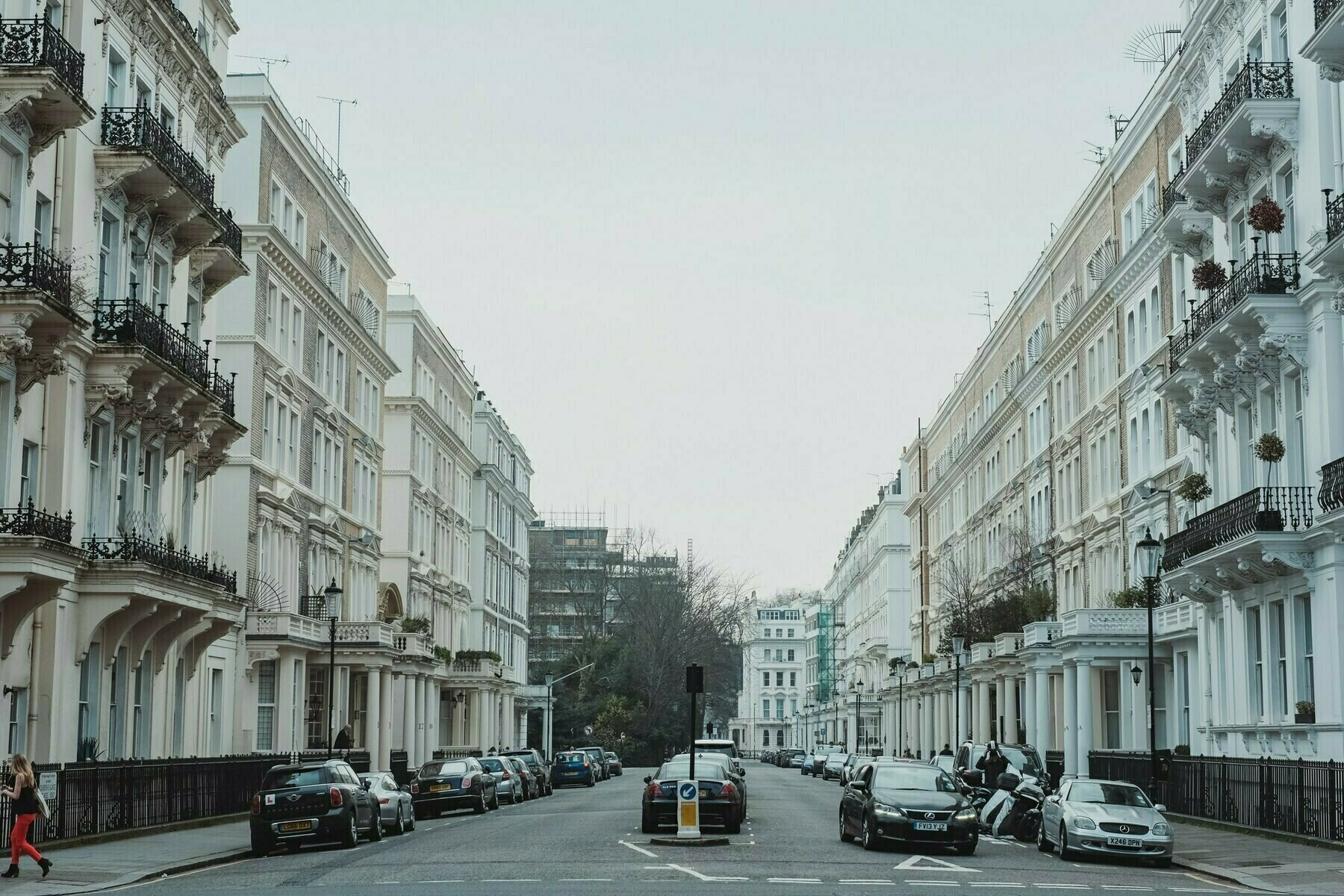 bisected street in London, England