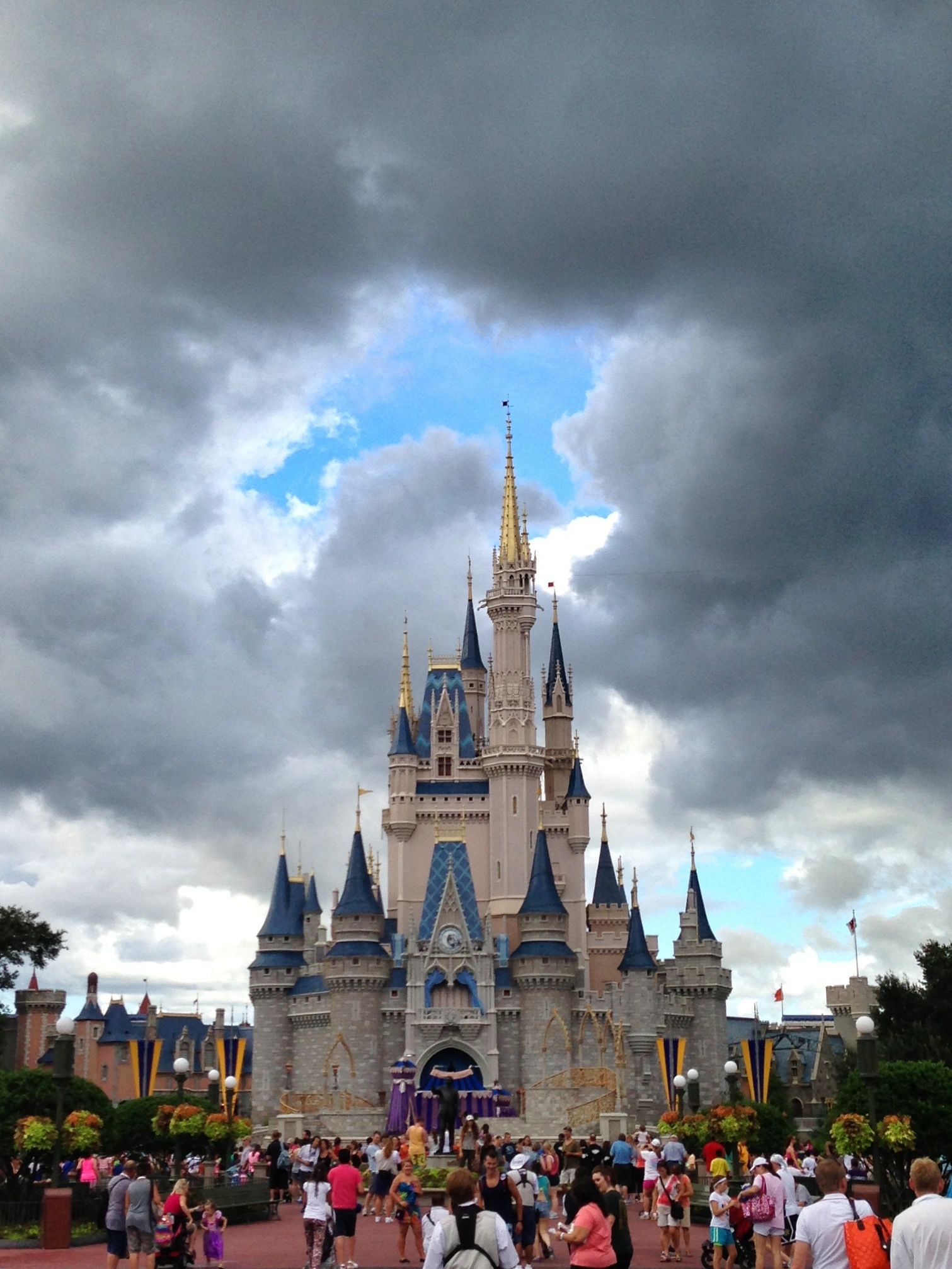 clouds over magic kingdom